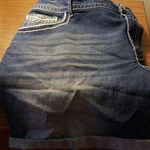 Women's Plus Faded Glory Jean Shorts size 22